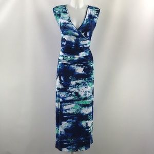 Tart Blue Surplice Neck Maxi Dress Size XS
